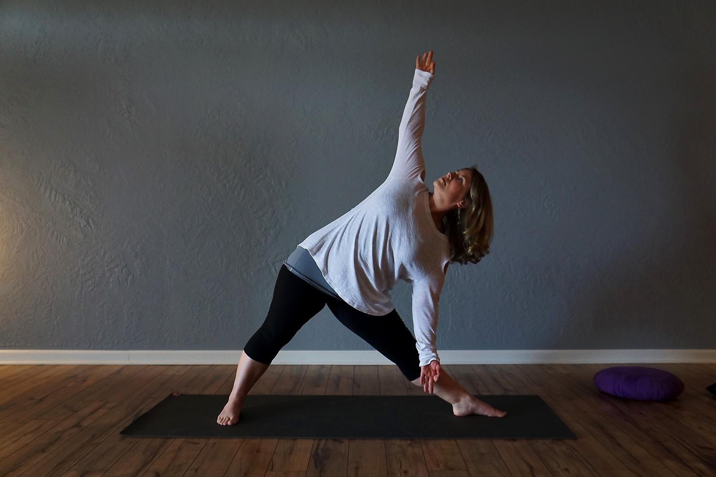 yoga pose while standing