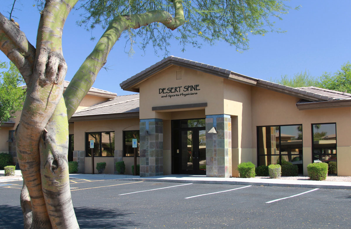 outside front view of Desert Spine and Sports Physicians building