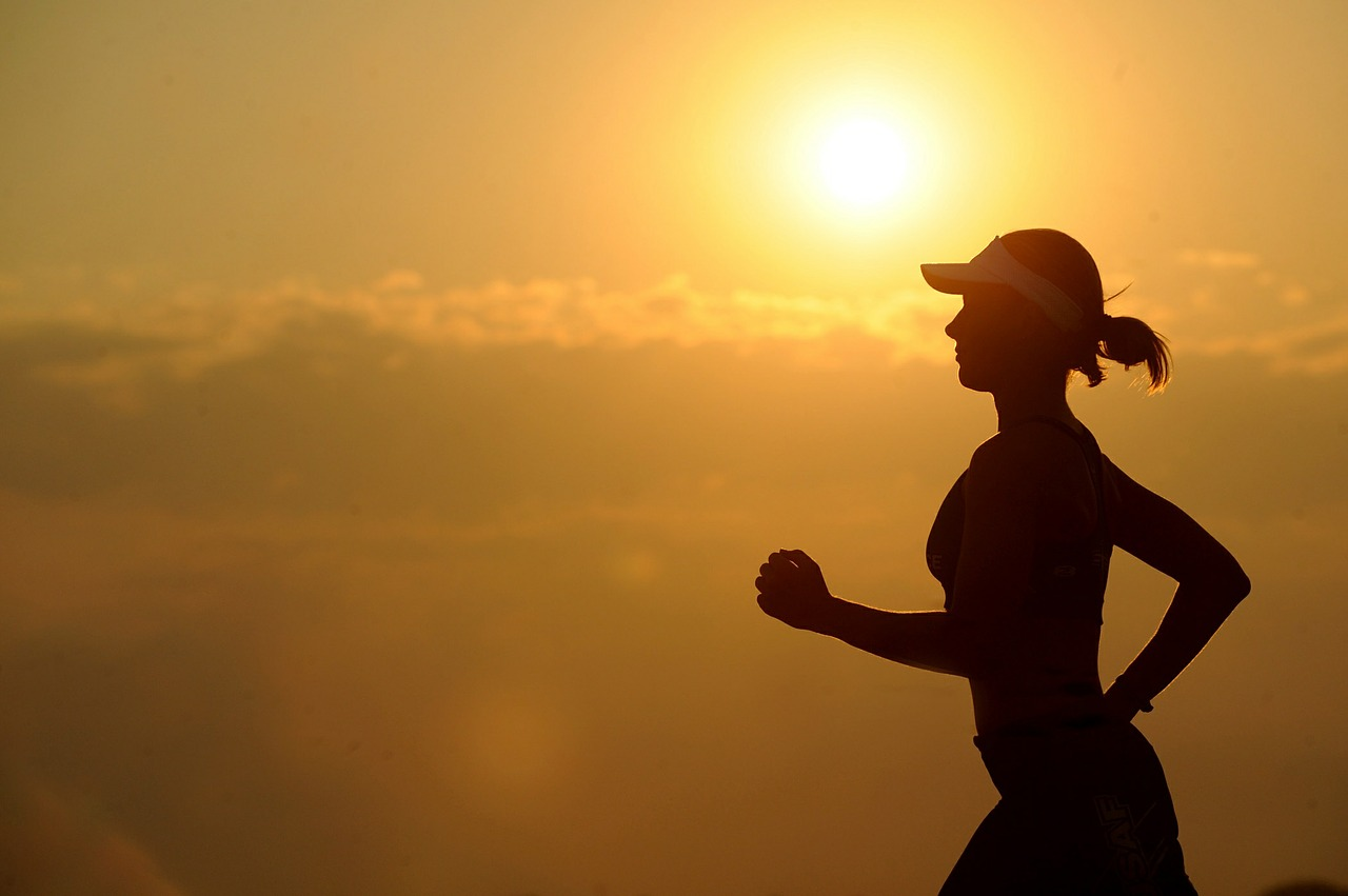 Are Americans Exercising Enough - silhouette of person running